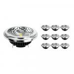 Confezione Multipack 10x Noxion Lucent Faretti LED AR111 G53 Pro 12V 12W 927 40D| Bianco MolaCaldo - Miglior resa cromatica - Dimmerabile - Sostitua 50W