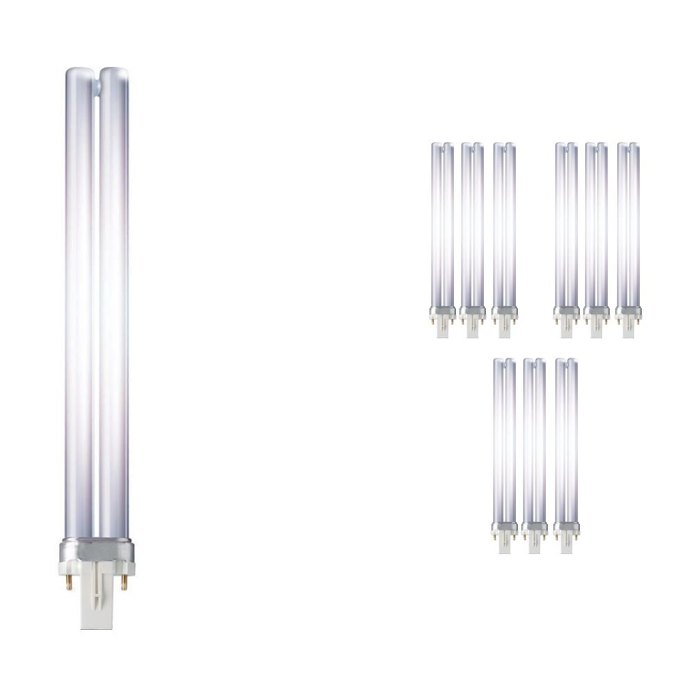 Confezione Multipack 10x Philips PL-S 11W 827 2P (MASTER) | Bianco MolaCaldo - 2-Pin