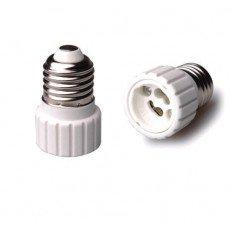 Adattatore E27 => GU10 - Bianco