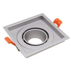Ring 110mm per Aron Spot - Alluminio Spazzolato - Quadrato Inclinabile