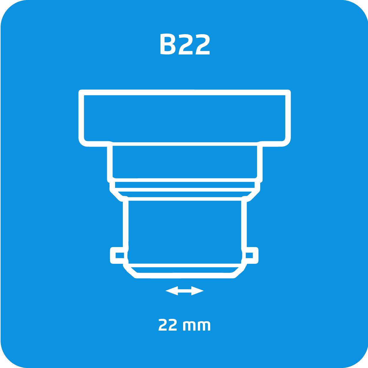 Attacco a baionetta B22 lampade ad incandescenza su Lampadadiretta.it