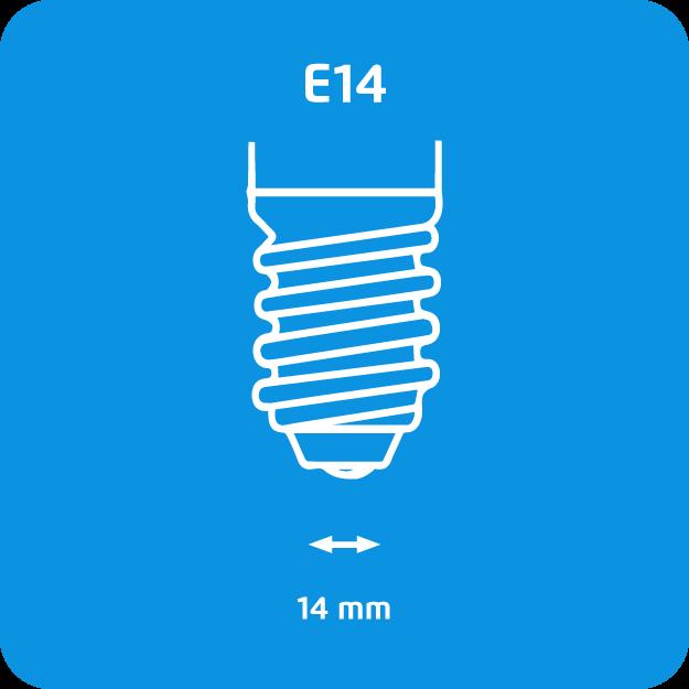 Attacco E14 lampadine a basso consumo Philips