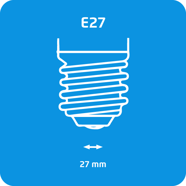 Attacco E27 lampadine alogene Philips