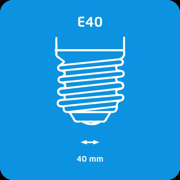 Philips basso consumo E40 - immagine attacco