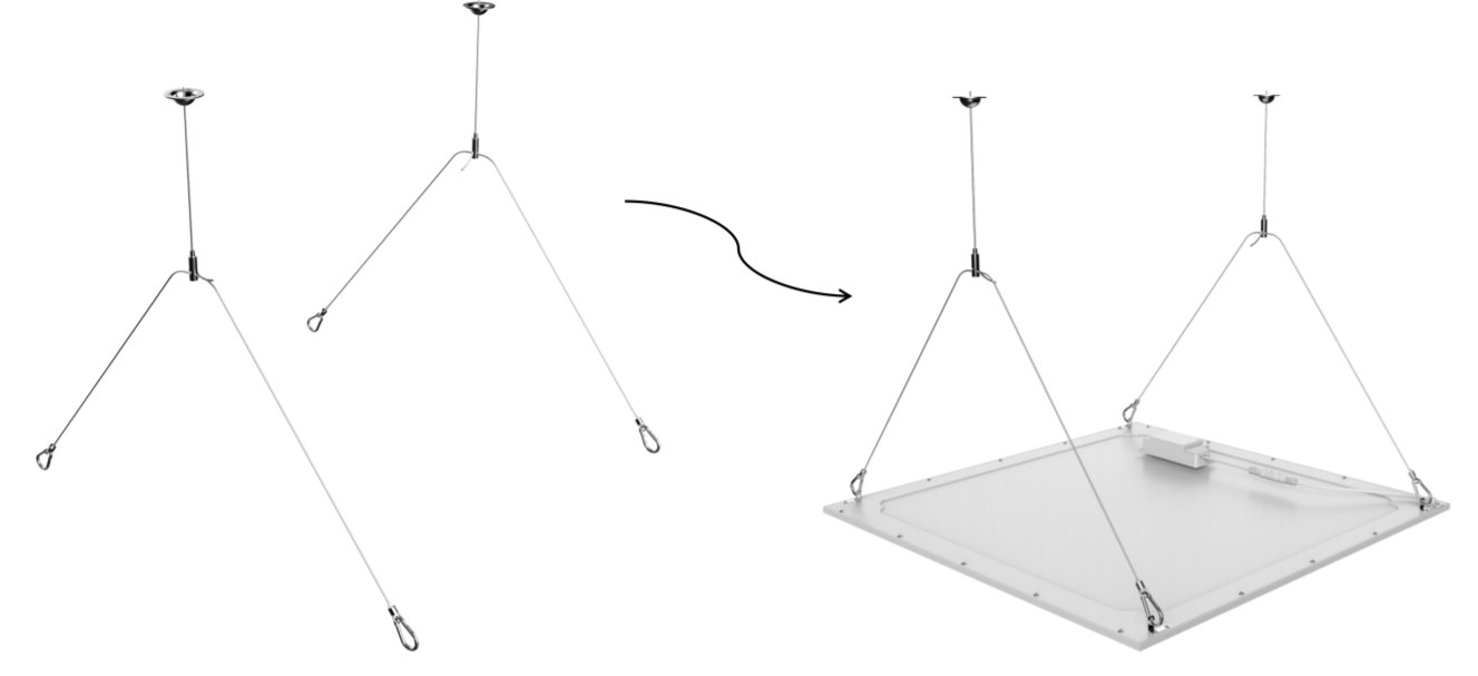 pannelli led sospensione